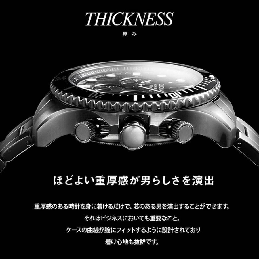 時計 人気 メンズ 腕時計 ダイバーズ クロノグラフ メンズ腕時計|u-stream|09