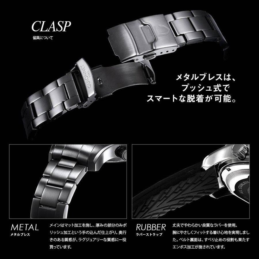 時計 人気 メンズ 腕時計 ダイバーズ クロノグラフ メンズ腕時計|u-stream|10