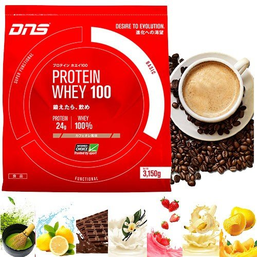 DNS プロテイン ホエイ100 ホエイプロテイン3150g 90回分 プロテインホエイ100 カフェオレ 抹茶 レモン プレミアムチョコレート リッチバニラ いちごミルク等