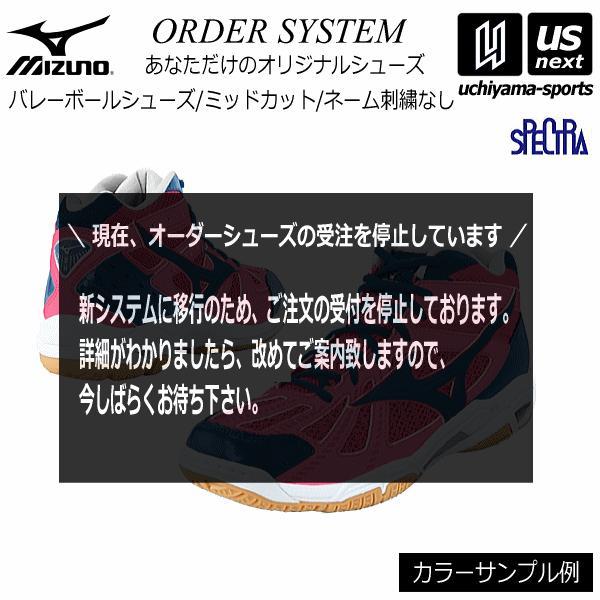 ミズノ バレーボールシューズ オーダーシューズ WAVE RAIJIN Type Mid−Cut 刺繍なし [取り寄せ][自社](メール便不可)