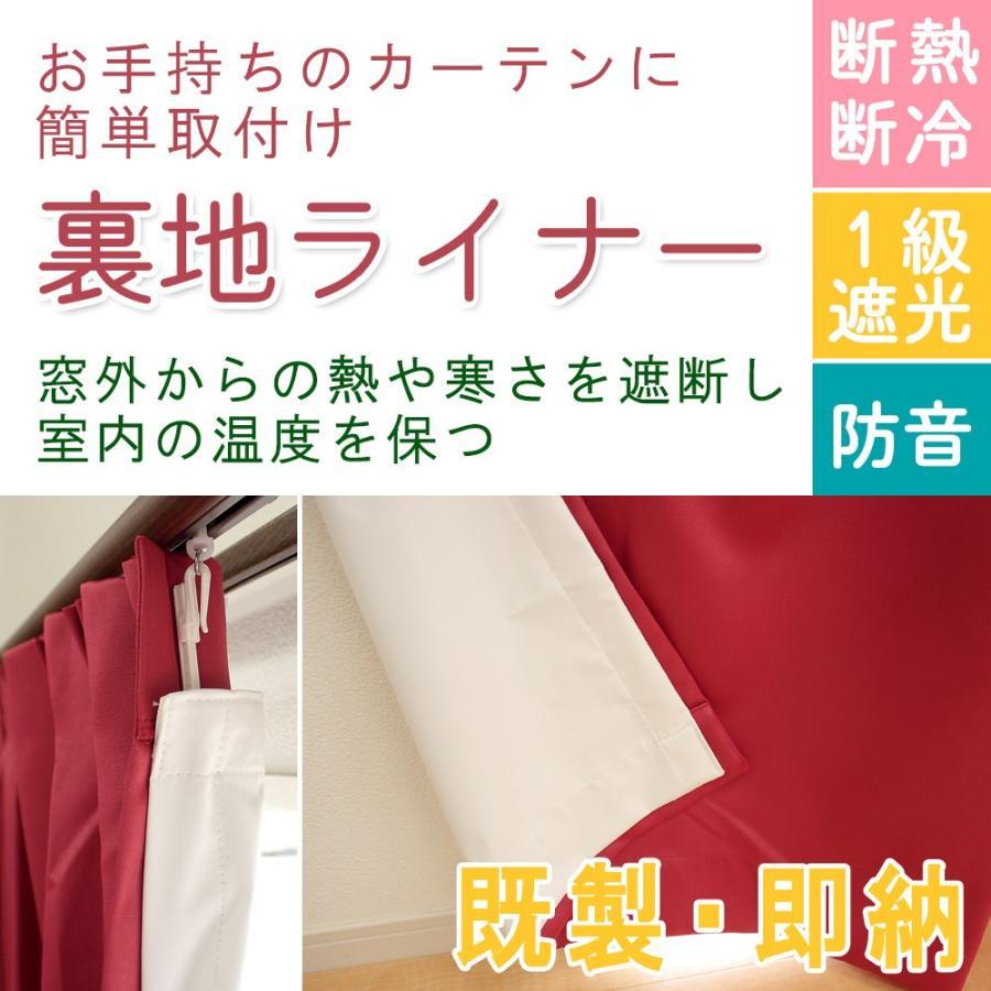 断熱 防音 1級遮光 裏地ライナー 約150X135cm用 (実寸巾150×丈129cm) 1枚 uedakaya