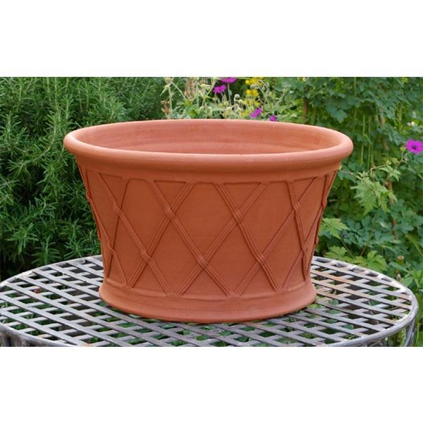 ウィッチフォード テラコッタ 植木鉢 《バスケットプランター》15.5号鉢サイズ 英国(イギリス)製 Whichford BASKET PLANTER