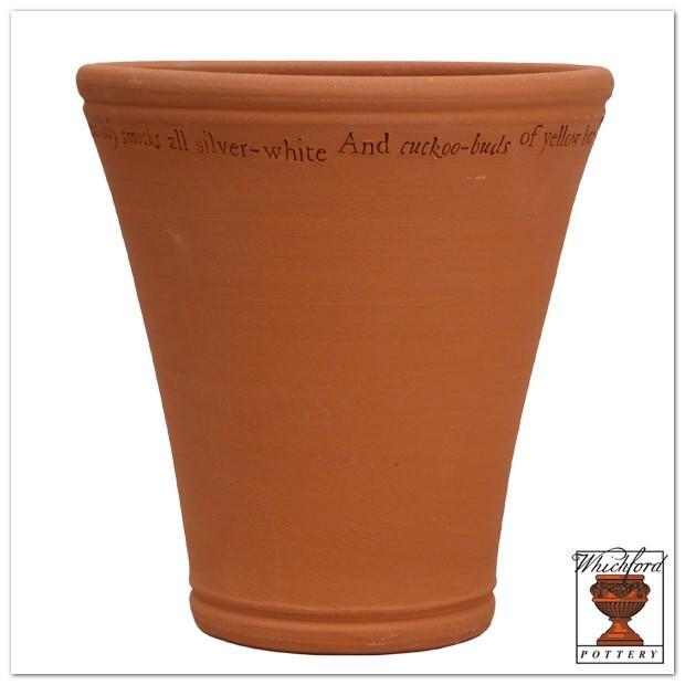 ウィッチフォード テラコッタ 植木鉢 《恋の骨折り損》14号鉢相当 英国(イギリス)製 Whichford LOVE'S LABOUR'S LOST