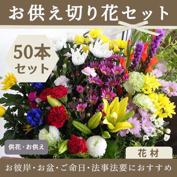 お悔やみ用   切花 花材50本セット(C)|uekibachi