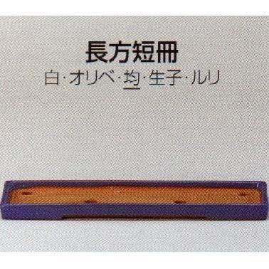 植木鉢 陶器 常滑焼 【誠山】長角短冊盆栽鉢(22号_均)