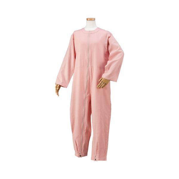 最先端 M つなぎパジャマ ハートフルウェアフジイ /HP06-100 01ピンク-介護用品