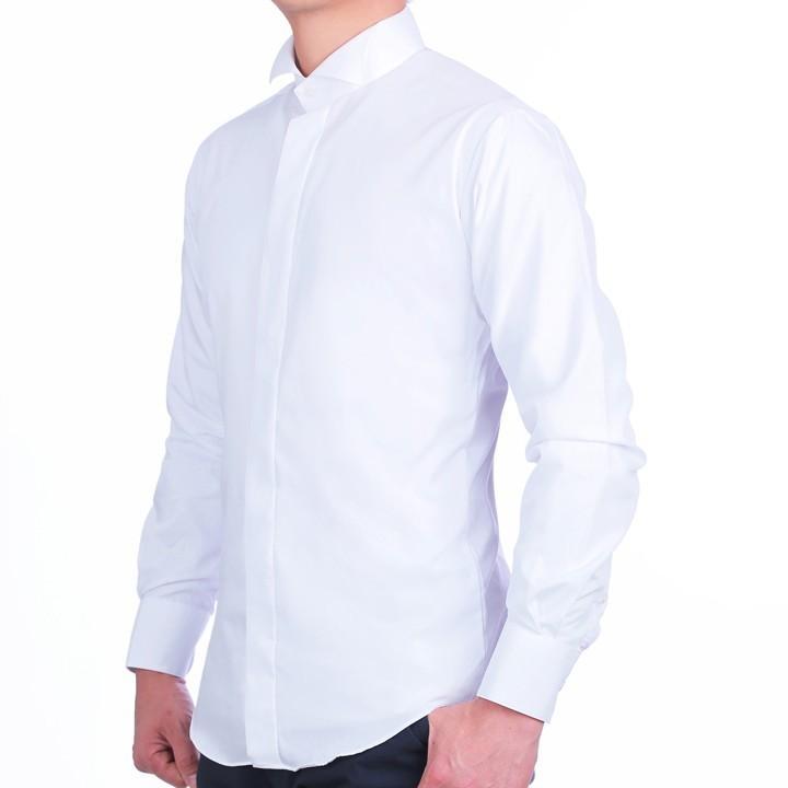ウイングカラーシャツ+フルセット(ネクタイ+カフスボタン+アームバンド+手袋+靴下+3ピークチーフ) 結婚式 父親モーニング 叙勲 式典 結婚式 ueyama 03