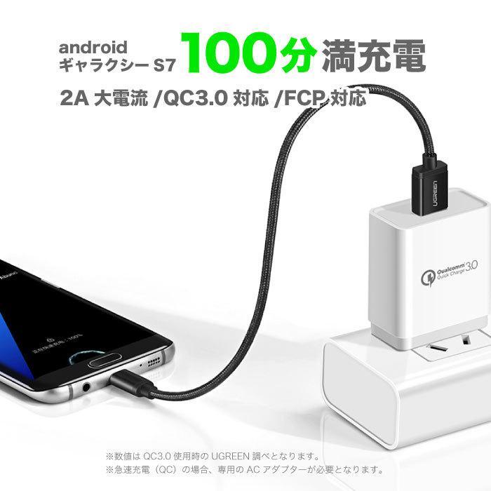 スマホ 充電 ケーブル MicroUSBケーブル 充電 1.5m Quick Charge マイクロUSB 2.0 Xperia 等のAndroid USBデバイスに対応 ナイロン編み カラバリ NP|ugreen-oaplaza|04