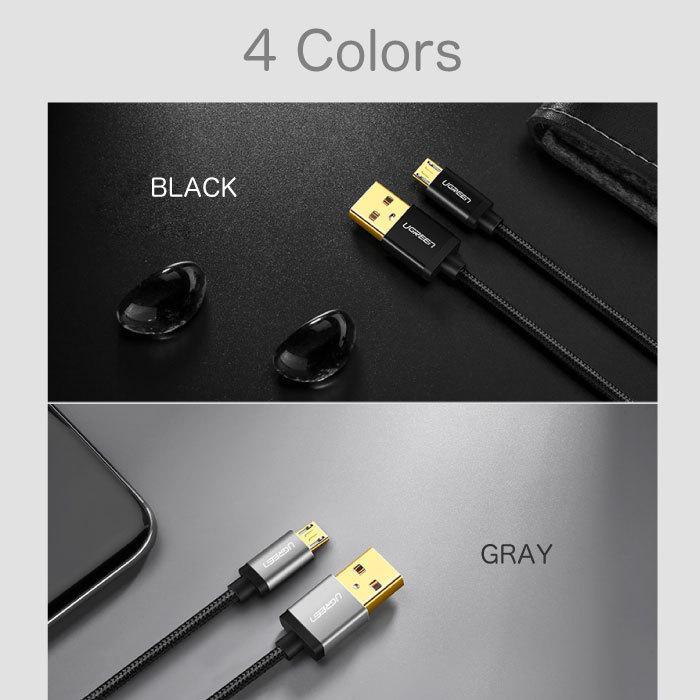 スマホ 充電 ケーブル MicroUSBケーブル 充電 1.5m Quick Charge マイクロUSB 2.0 Xperia 等のAndroid USBデバイスに対応 ナイロン編み カラバリ NP|ugreen-oaplaza|05