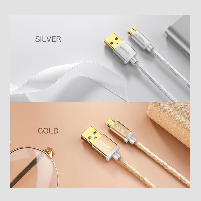 スマホ 充電 ケーブル MicroUSBケーブル 充電 1.5m Quick Charge マイクロUSB 2.0 Xperia 等のAndroid USBデバイスに対応 ナイロン編み カラバリ NP|ugreen-oaplaza|06