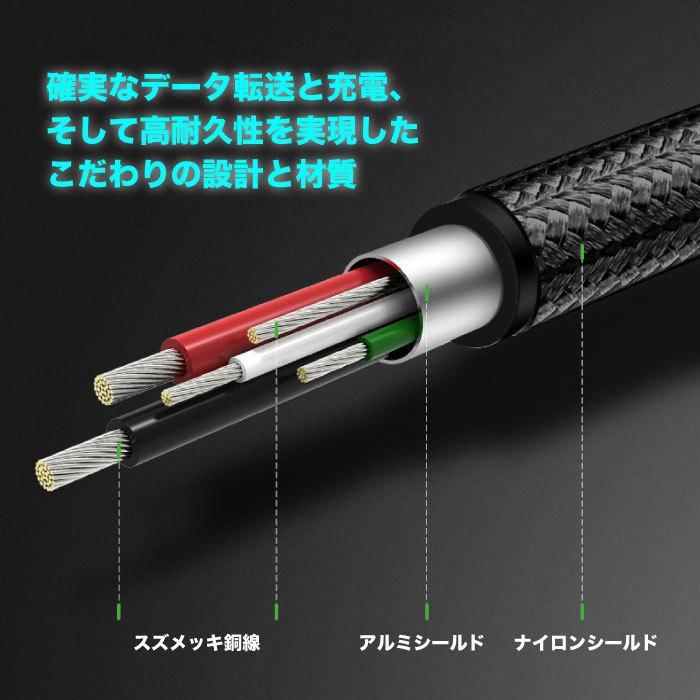 スマホ 充電 ケーブル MicroUSBケーブル 充電 1.5m Quick Charge マイクロUSB 2.0 Xperia 等のAndroid USBデバイスに対応 ナイロン編み カラバリ NP|ugreen-oaplaza|10