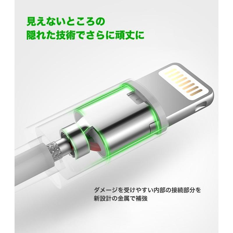 iPhone 充電ケーブル ライトニングケーブル 1m 純正チップ MFi Apple認証 Lightning 急速充電対応 データ同期 iPhoneXS XR X 8 アイフォン 充電器 US155|ugreen-oaplaza|03