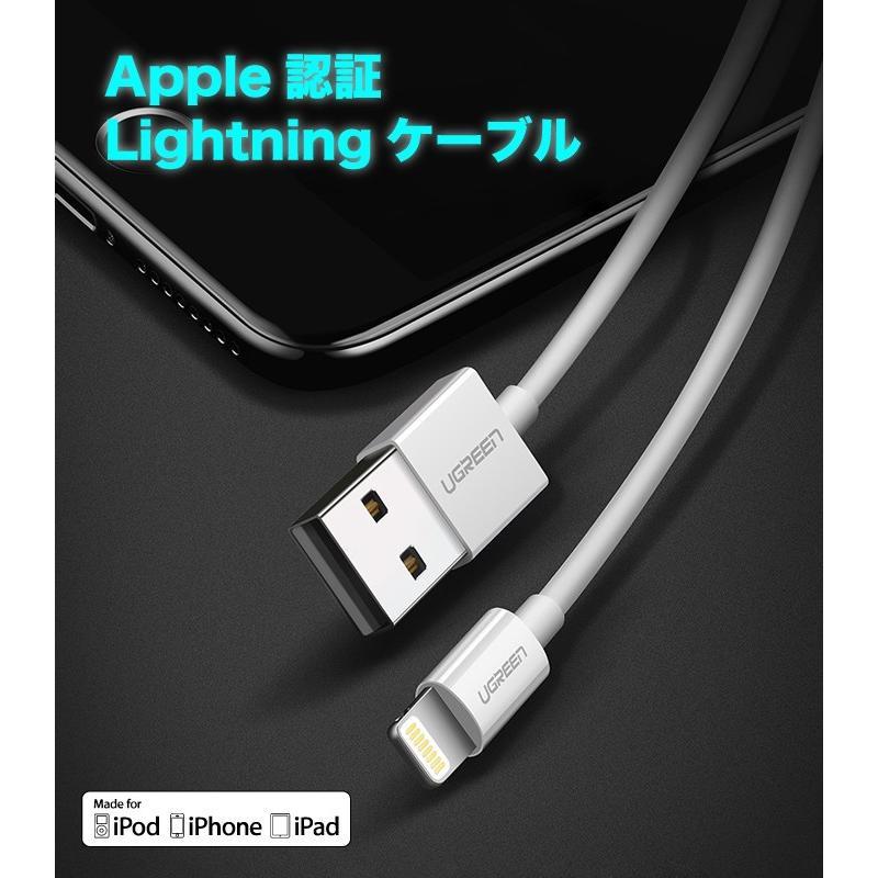 iPhone 充電ケーブル ライトニングケーブル 1m 純正チップ MFi Apple認証 Lightning 急速充電対応 データ同期 iPhoneXS XR X 8 アイフォン 充電器 US155|ugreen-oaplaza|07
