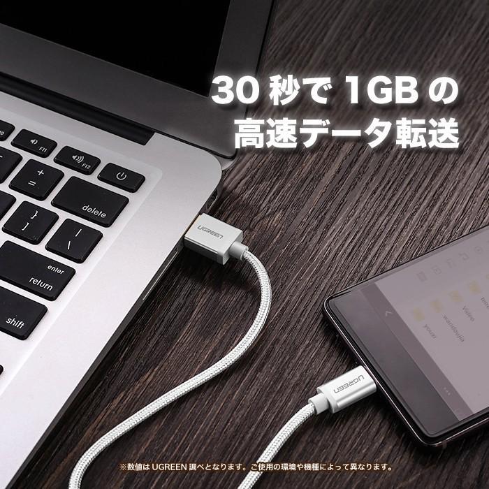 USB Type-C アンドロイド スマホ 充電 ケーブル 1.5m 高速データ転送 2.4A急速充電 us174 NP ugreen-oaplaza 04