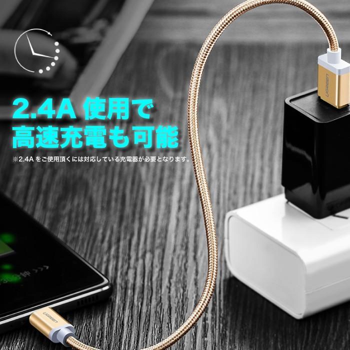 USB Type-C アンドロイド スマホ 充電 ケーブル 1.5m 高速データ転送 2.4A急速充電 us174 NP ugreen-oaplaza 05