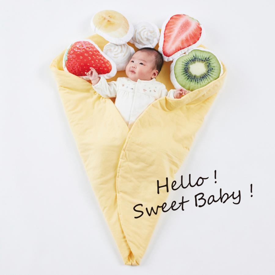 おくるみクレープ〈デザートセット〉出産祝い 女の子 男の子 おくるみ ギフトセット プレゼント 孫 赤ちゃん かわいい 人気 おしゃれ uhuhu