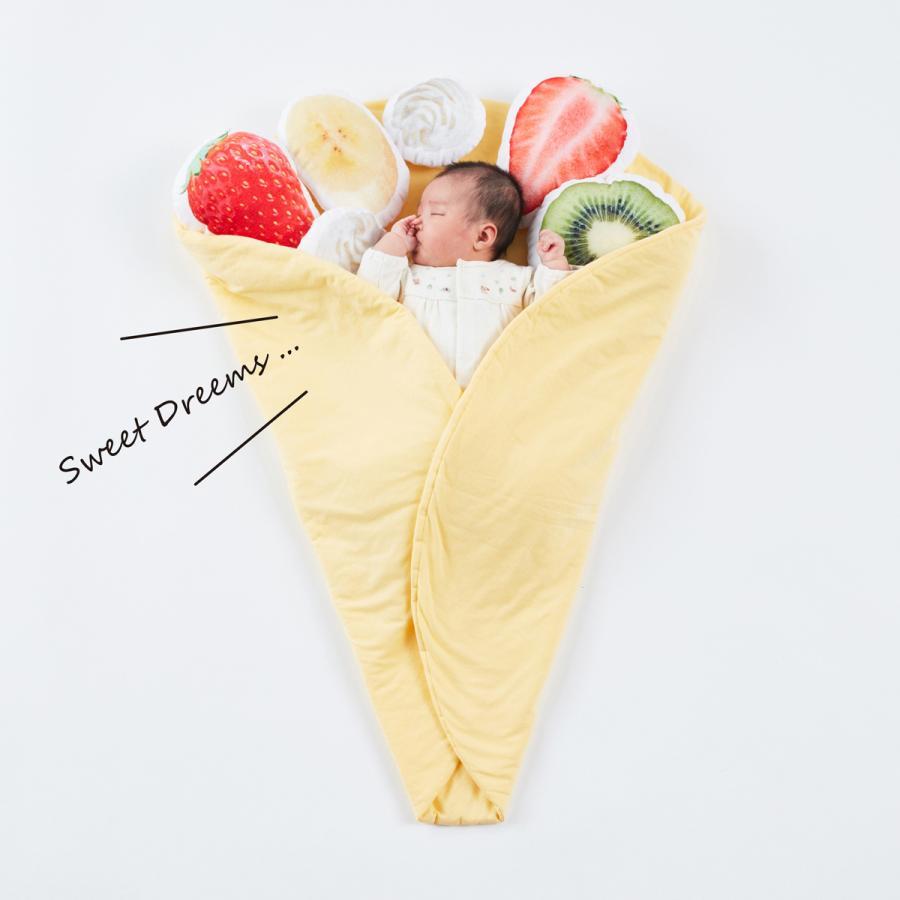 おくるみクレープ〈デザートセット〉出産祝い 女の子 男の子 おくるみ ギフトセット プレゼント 孫 赤ちゃん かわいい 人気 おしゃれ uhuhu 02