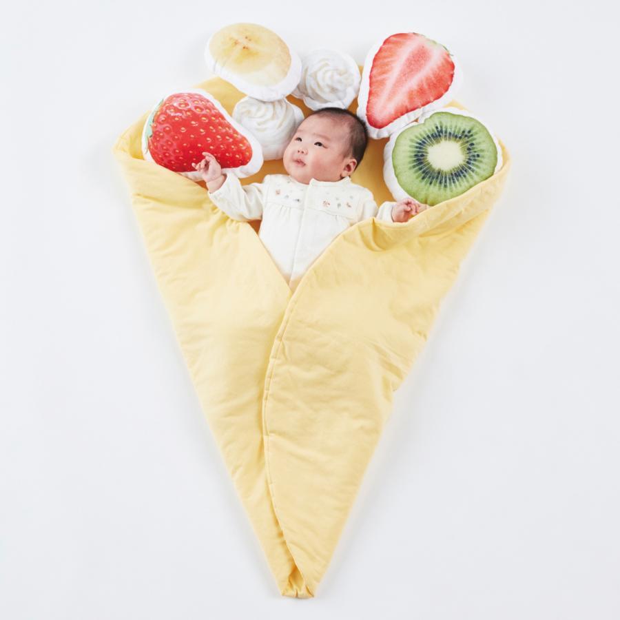 おくるみクレープ〈デザートセット〉出産祝い 女の子 男の子 おくるみ ギフトセット プレゼント 孫 赤ちゃん かわいい 人気 おしゃれ uhuhu 05