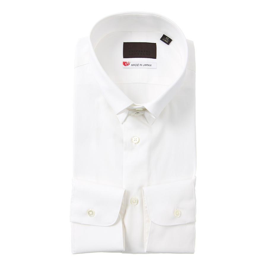 ドレスシャツ/長袖/メンズ/JAPAN MADE SHIRTS/タブカラードレスシャツ 無地 ホワイト