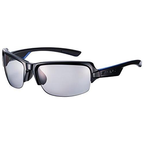【★新品★】SWANS(スワンズ) スポーツ 偏光 サングラス ディーエフ 偏光レンズ モデル DF-0053 BK ブラック×ブラック×クリアブルー