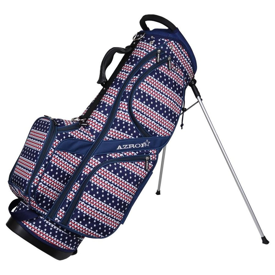 AZROF(アズロフ) スタンドキャディバッグ タイニースターネイビー 169楽 ゴルフクラブ 持ち運び