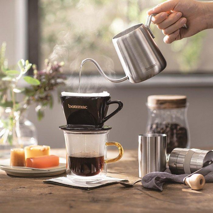 《ネット販売特別価格》bonmac ワンドリップポット 350ml+ワンドリップコーヒー5袋セット umakacoffee-store 04
