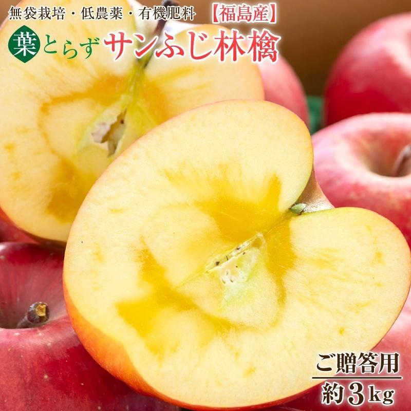 福島産葉とらずサンふじ林檎