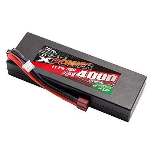 ハイテック X-POWER 車用 Li-Poバッテリー 7.4V4000mAh 35C XP90170|umeeee-store