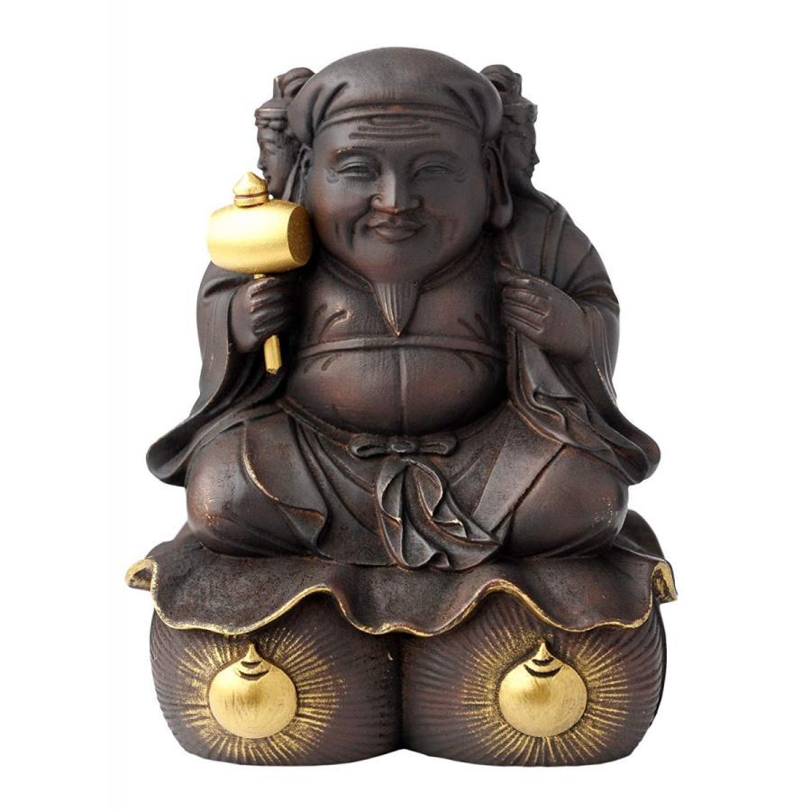 圓徳院公認 三面大黒天 small(木製:桧)仏像ワールド フィギュア イスム イSム