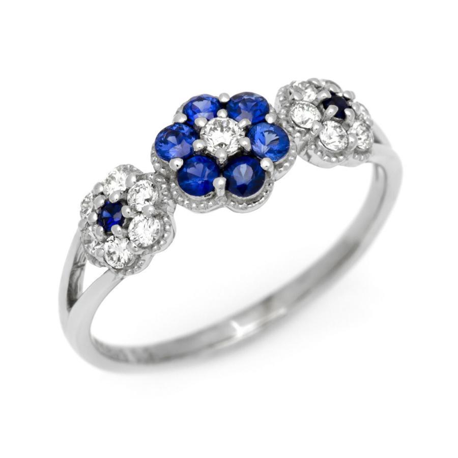 【ネット限定】 K18 ブルーサファイア ダイヤモンド 9月誕生石 フラワー リング ダイヤモンド parterre (サイズ1号〜20号) 9月誕生石 リング アクセサリー 指輪, ヒガシシラカワムラ:a01d934b --- airmodconsu.dominiotemporario.com