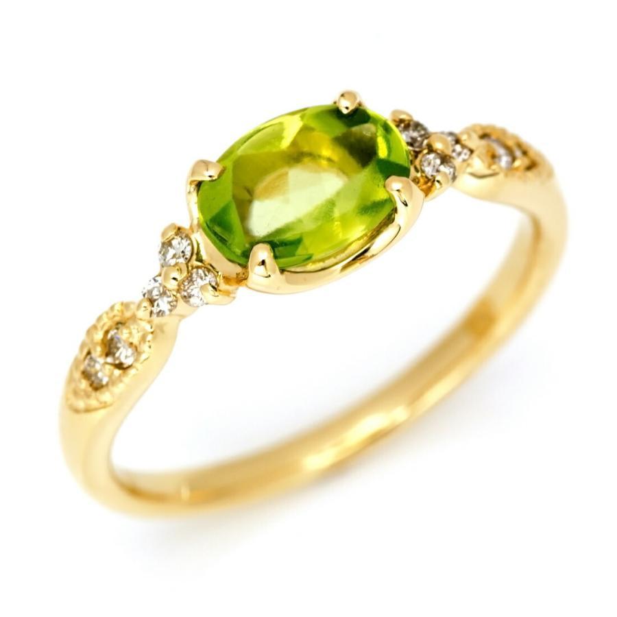 激安通販の リング ペリドット ダイヤモンド ゴールド K18 amanza 8月誕生石 プレゼント レディース 18K 18金, シヅガワチョウ de13b739
