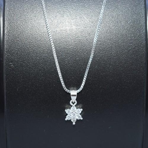 mini雪片 ネックレス レディース スノーフレーク スワロフスキー s925 プラチナ仕上げ unchudo 12
