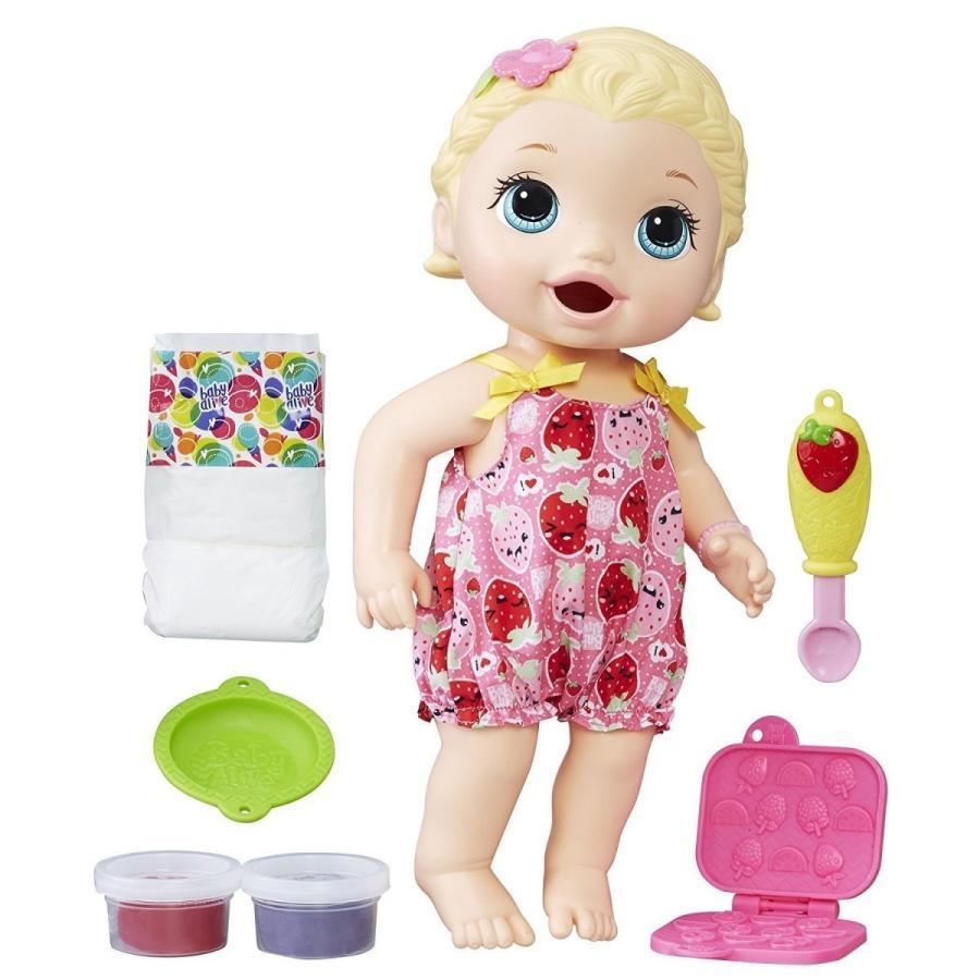 Baby Alive ベビーアライブ たべるのだいすきリリー ブロンドヘアー Super Snacks Lily おままごと ドール 人形 フィギュア 海外輸入品