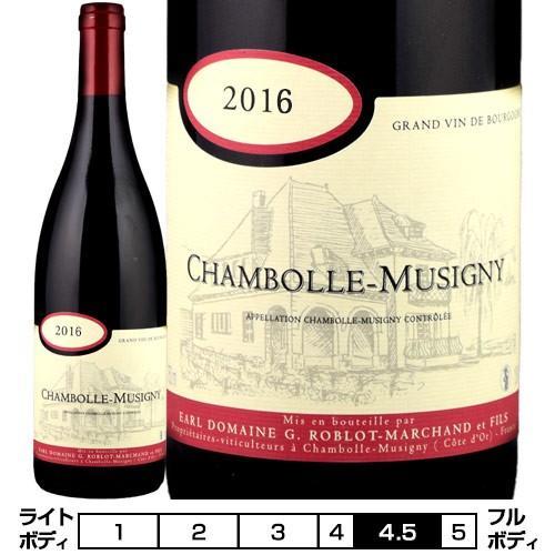 G. ロブロ・マルシャン[2016] シャンボール・ミュジニー 赤 750ml Chambolle-Musigny[G. Roblot-Marchand] フランス ブルゴーニュ 赤ワイン|unibiswine