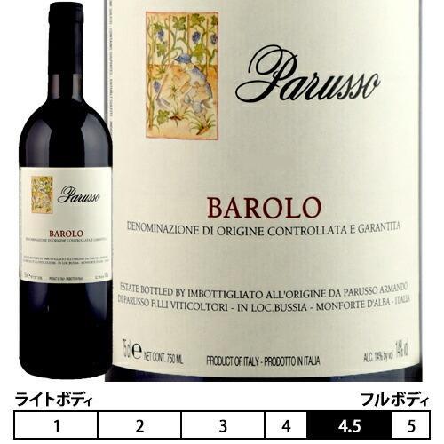 バローロ[2015]パルッソ 赤 750ml Parusso[Barolo] イタリア ピエモンテ 赤ワイン|unibiswine