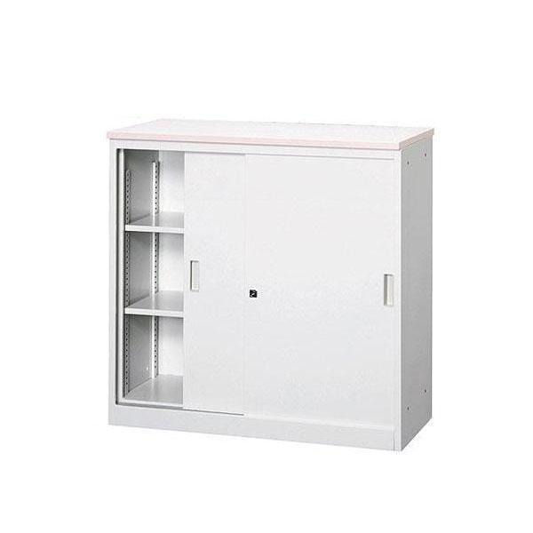 オフィス・店舗向け システムカウンター 書庫型ハイカウンター 書庫型ハイカウンター 書庫型ハイカウンター 鍵付 天板W900×D450mm [グレー・COM-CVA-9HS-G] f6c
