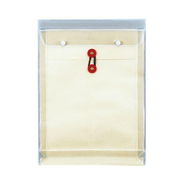 (まとめ) ピース マチヒモ付ビニール保存袋 レザック 角0 184g/m2 白 918 1枚 〔×30セット〕