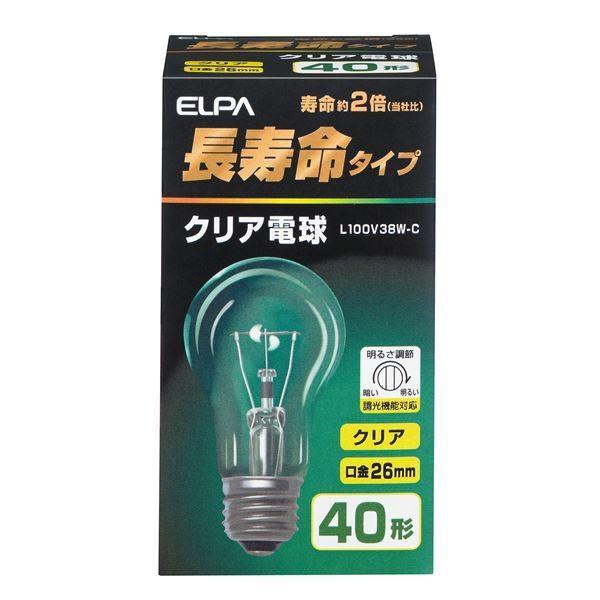 (業務用セット) ELPA 長寿命クリア電球 長寿命クリア電球 40W形 E26 L100V38W-C 〔×35セット〕
