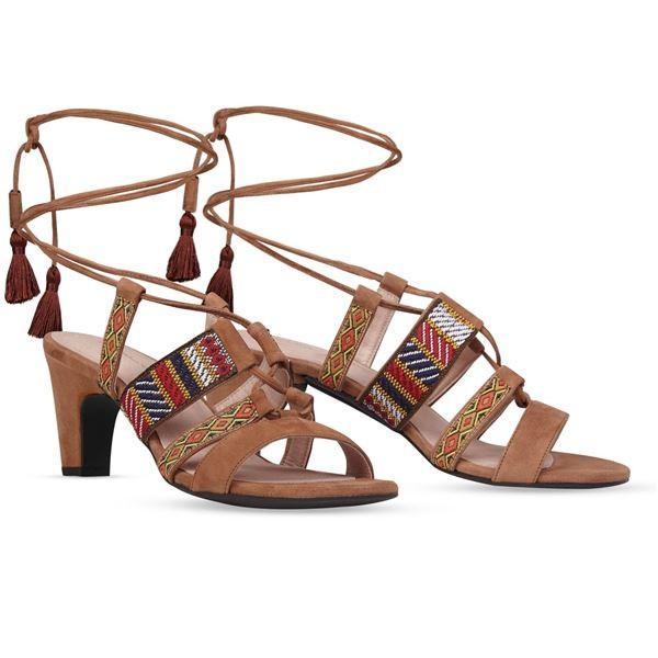 高質 ヒール付け替え可能サンダル/婦人靴 〔Indie Brown/Block 7cm ブラウン系 サイズ:36(23cm相当)〕 Mime et moi ミミ・エ・モイ〔〕, むせんZone25 54288356