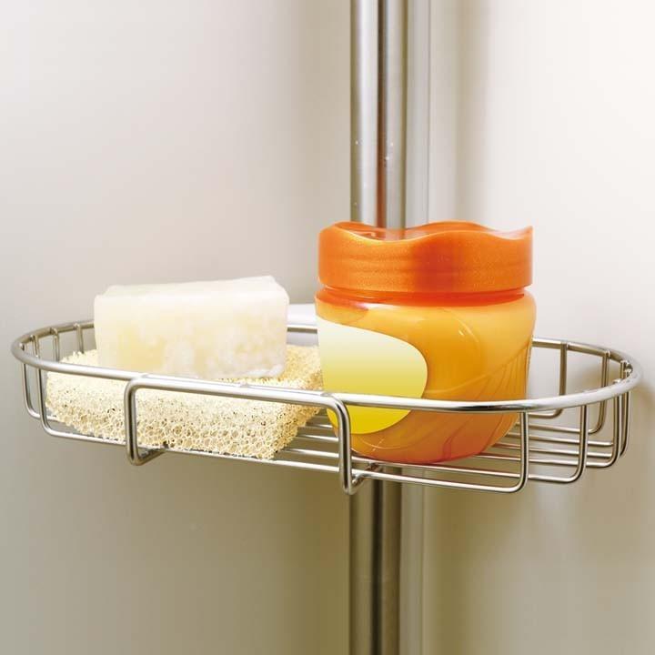 ステンレス浴室突張りラック BLT-25S アイリスオーヤマ 風呂 お風呂 浴室収納 つっぱり式 ラック  コーナーラック 突っ張り|unidy-y|12