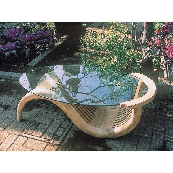 ガーデンテーブル ガラステーブル シンプル 37034(代引不可)