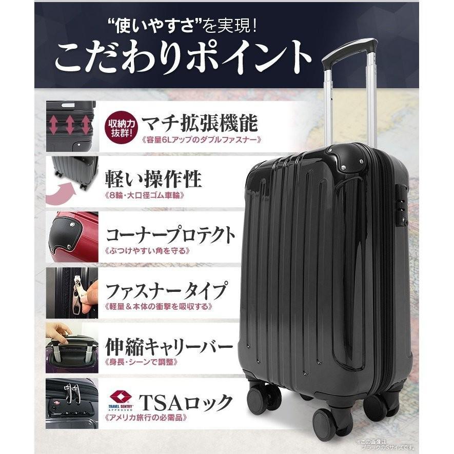 スーツケース 機内持ち込み 軽量 Sサイズ キャリーケース キャリーバッグ 40L 2〜3泊 ビジネス TSA搭載 送料無料 unidy-y 04