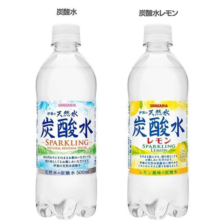 48本入 伊賀の天然水 炭酸水 500ml サンガリア (D) 【代引き不可】 unidy-y