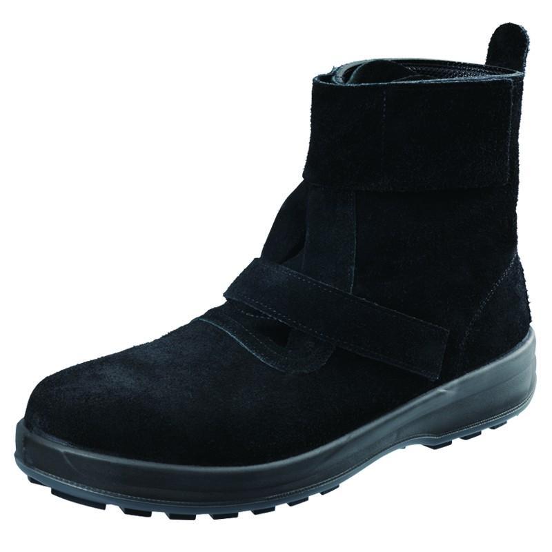 安全靴 JIS S種 普通作業用 WS28 黒 作業靴 シモン