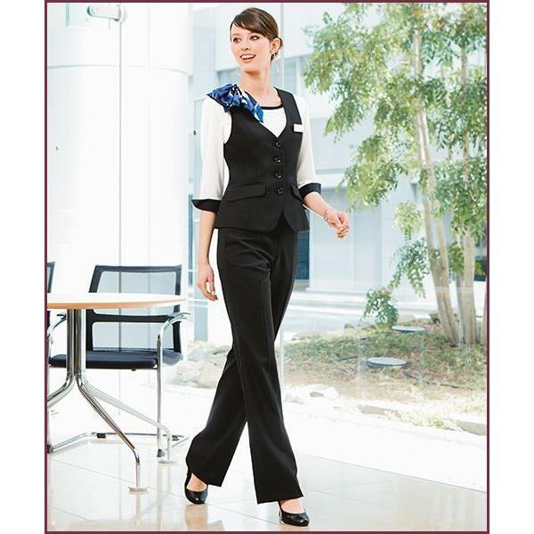 フレアストレートパンツ オフィス 事務服 ディープシャドーストライプ Uniform Japan - 通販 - PayPayモール