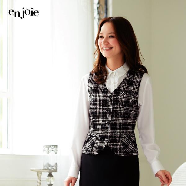 オフィス 事務服 制服 en joie ベスト 11260  アンジョア Uniform Japan - 通販 - PayPayモール