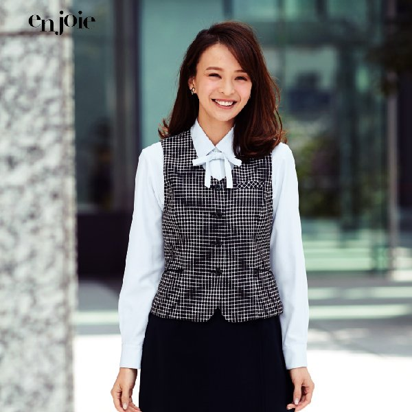 オフィス 事務服 制服 en joie ベスト 11420 アンジョア事務服 Uniform Japan - 通販 - PayPayモール