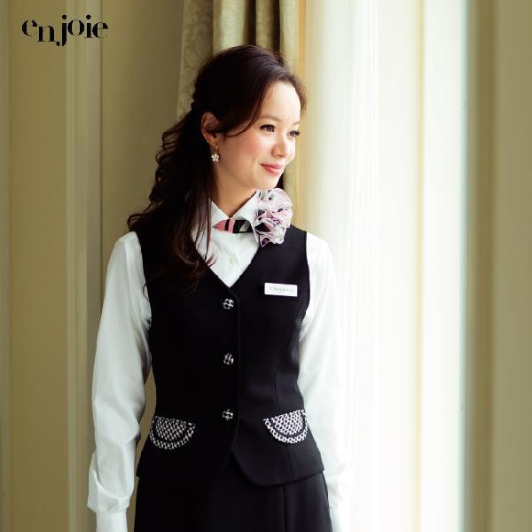 オフィス 事務服 制服 en joie ベスト 11455 アンジョア事務服 Uniform Japan - 通販 - PayPayモール