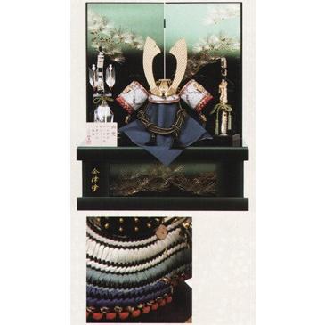 五月人形 兜飾り 青裾濃 NO13 平井旗