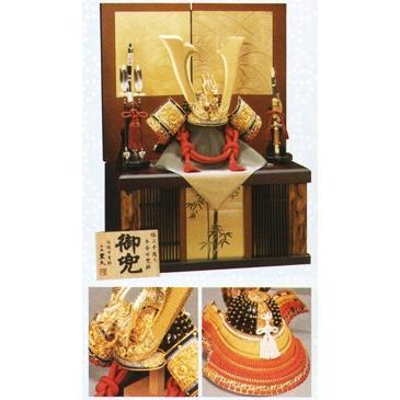 五月人形 着用収納兜飾り 豪山 NO15 平井旗